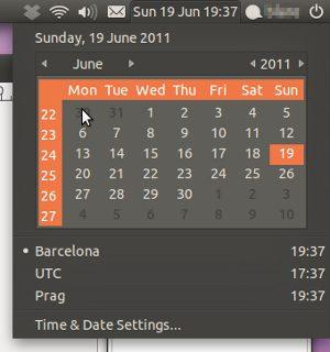 Ubuntu Calendar Applet